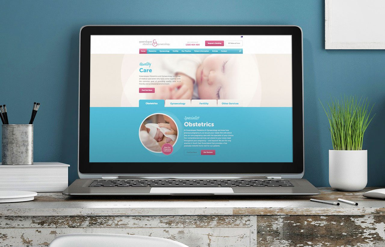 Greenslopes Obstetrics and Gynaecology website design