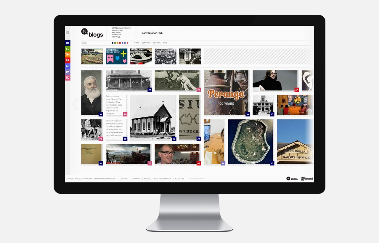 State Library of Queensland blog design
