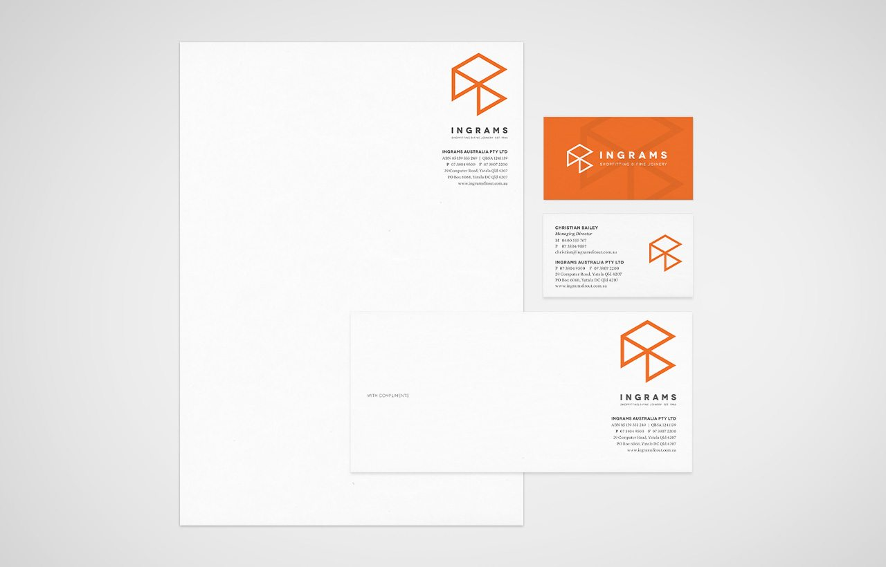 Ingrams stationery design