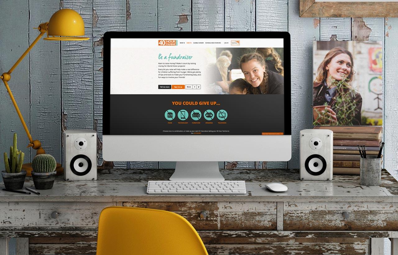 World Vision 40 Hour famine 2015 website design