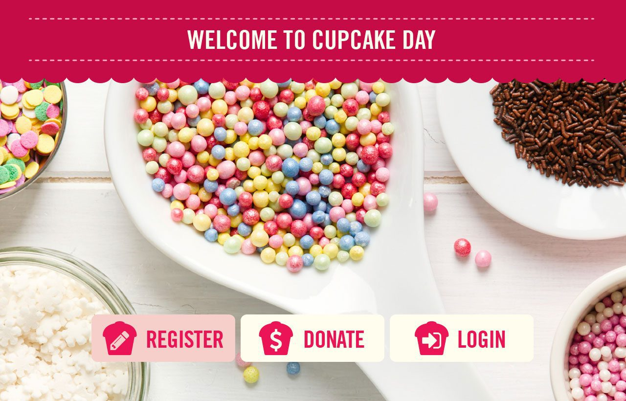 RSPCA Cupcake Day website design