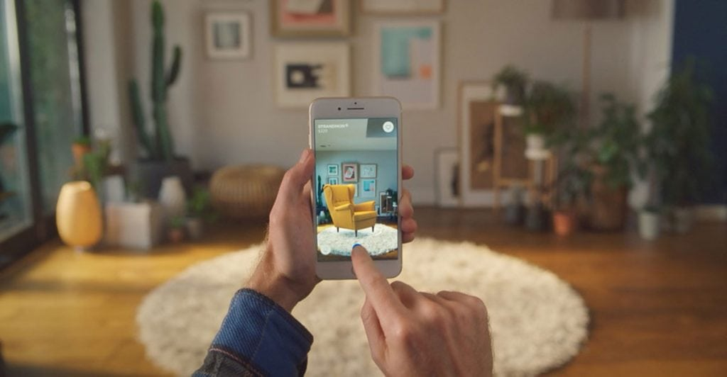 Augmented Reality App developed by IKEA