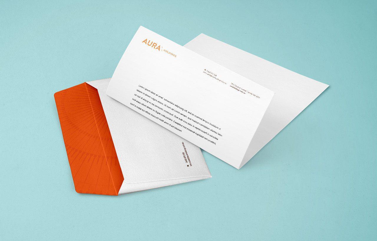 aura holdings letterhead