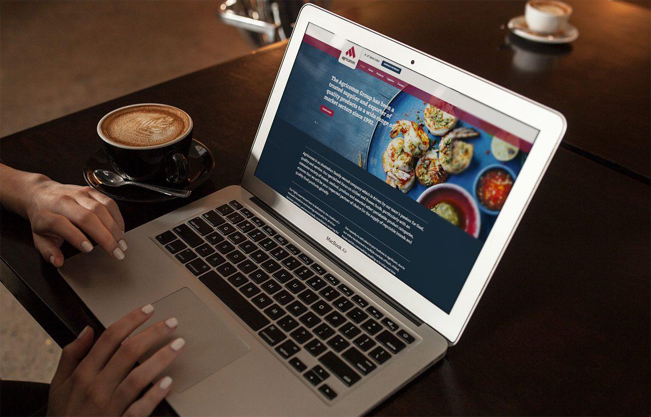 Agricomm website design