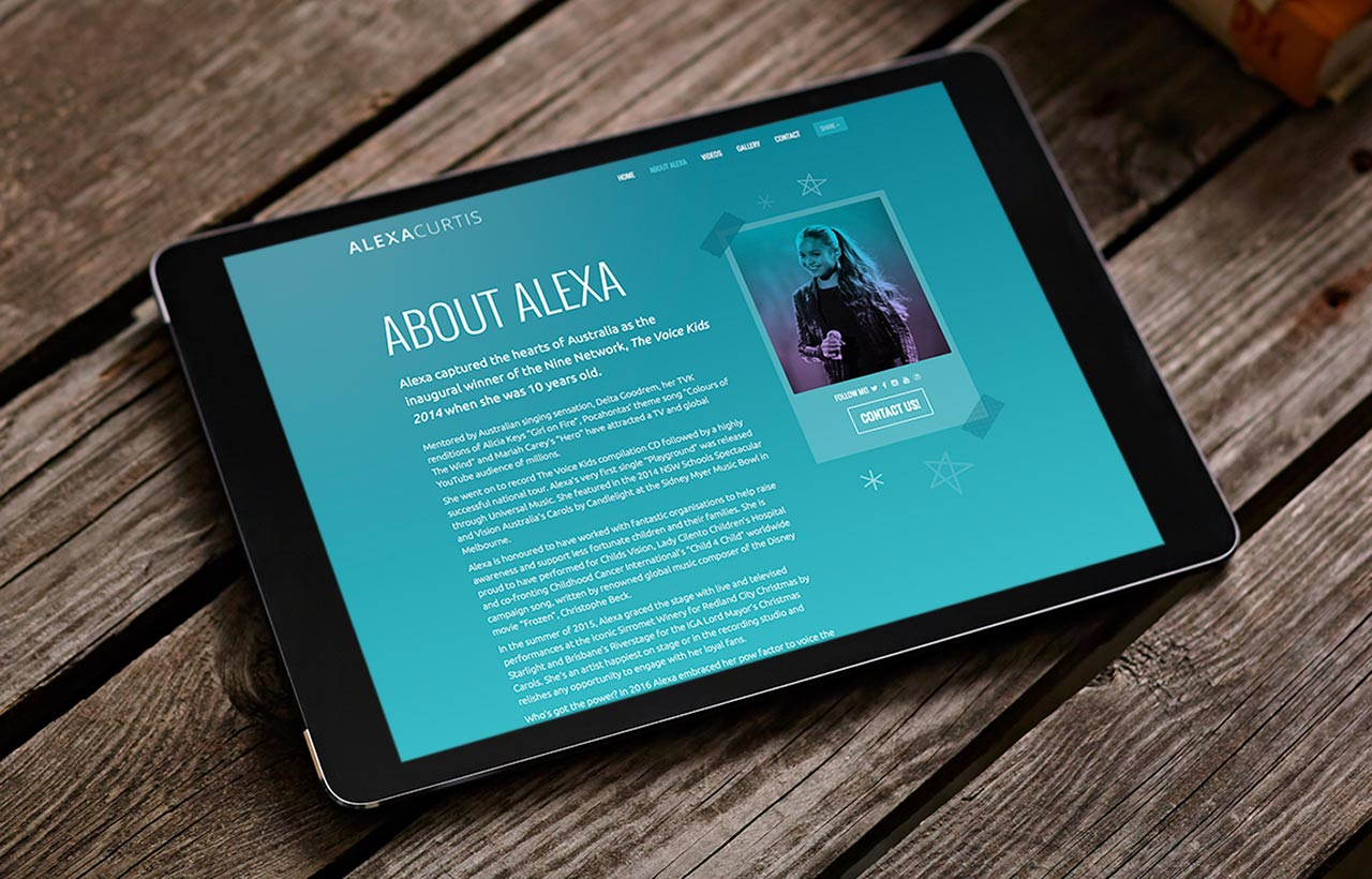 Alexa Curtis responsive website