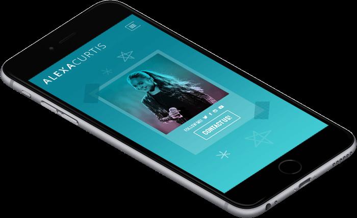 Alexa Curtis mobile website