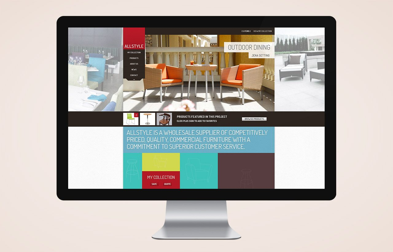 Allstyle furniture website design