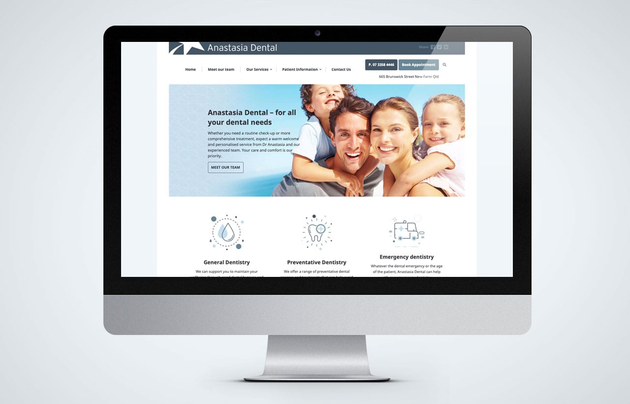 Anastasia Dental website