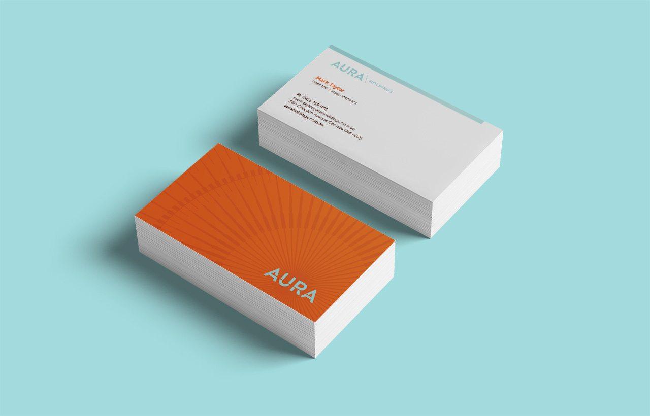 aura holdings business card