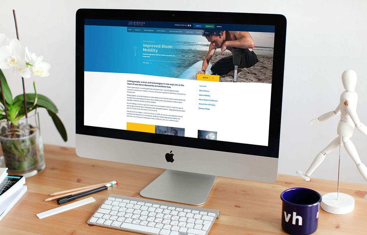 Bionics Queensland website home