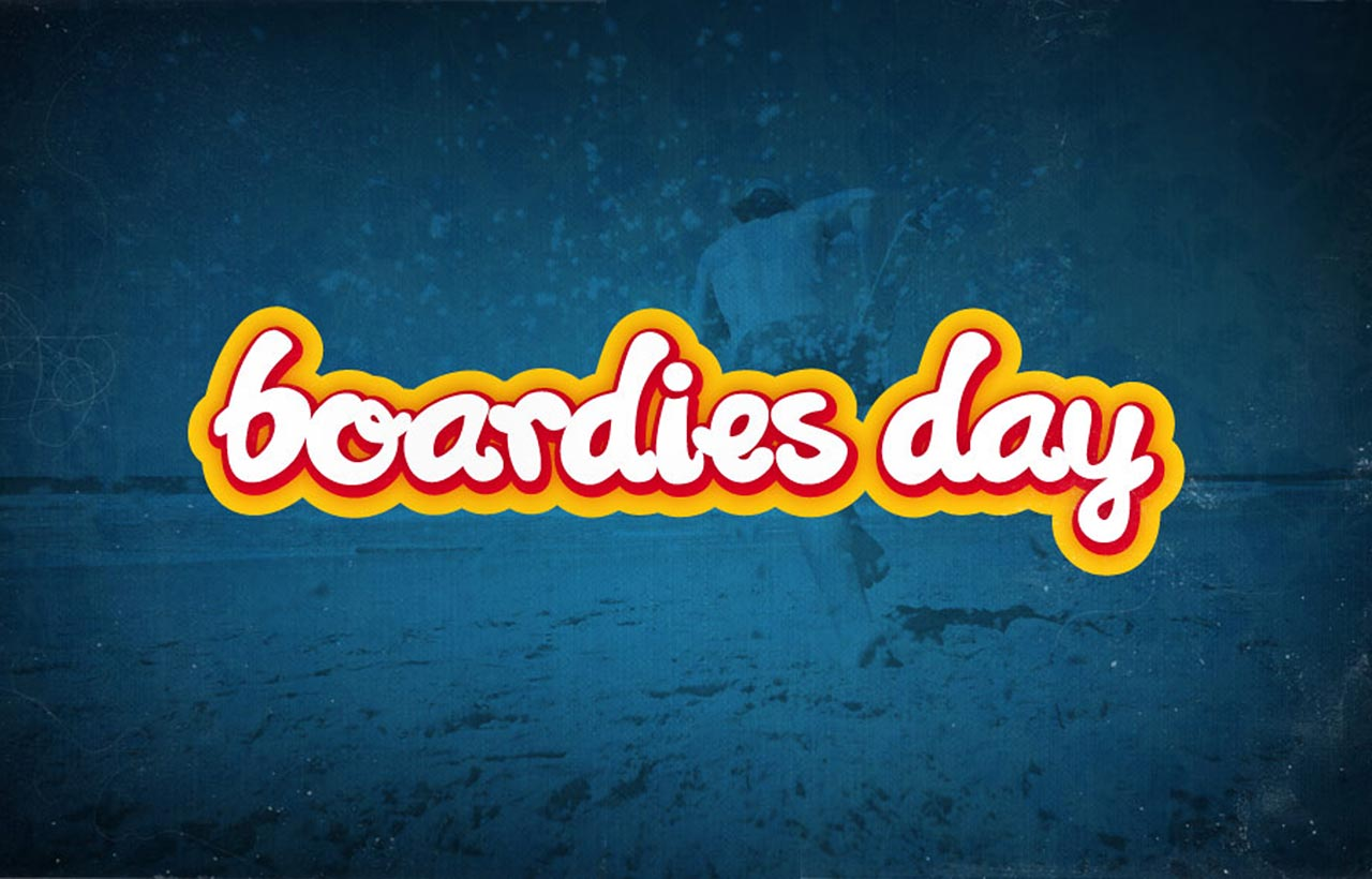 Surf Lifesaving Boardies day logo blue