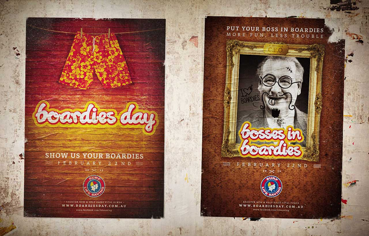 Surf Lifesaving Boardies day posters