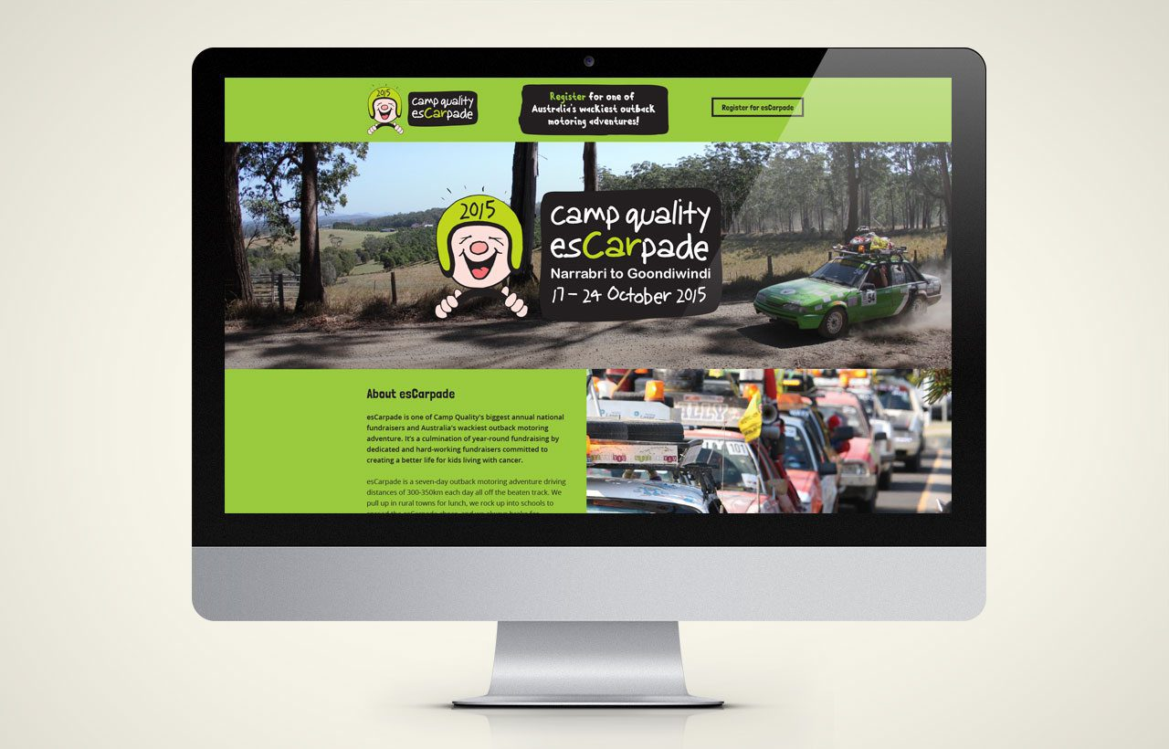 Camp Quality Escarpades website