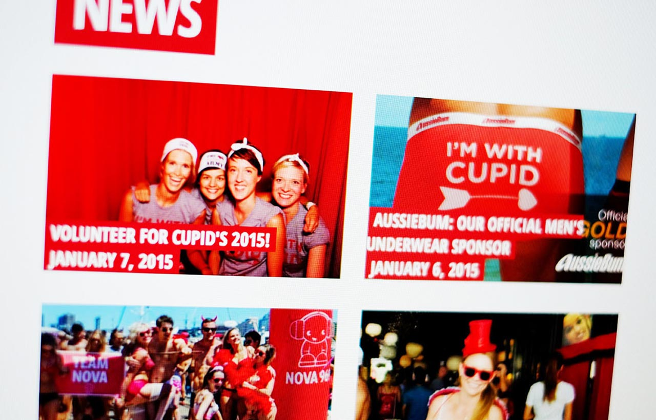 Winning Media Cupid's Undie Run website