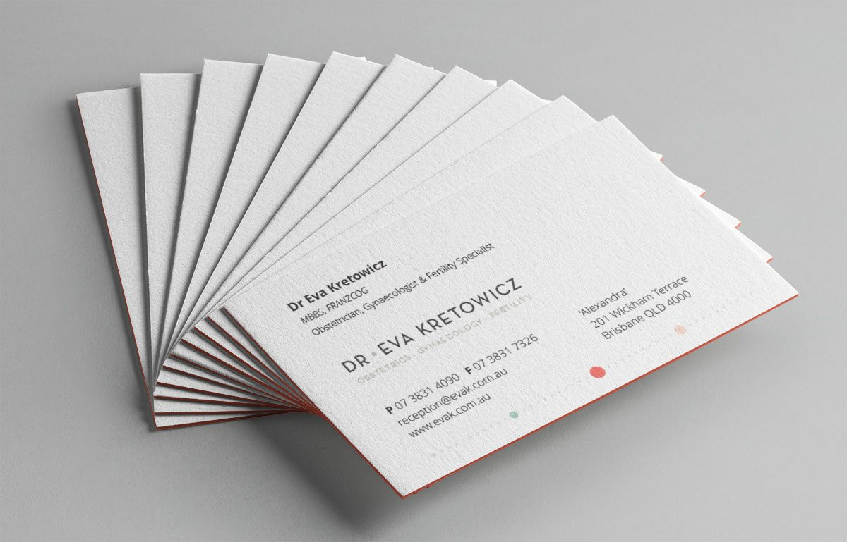 Dr Eva Kretowich Business Card design