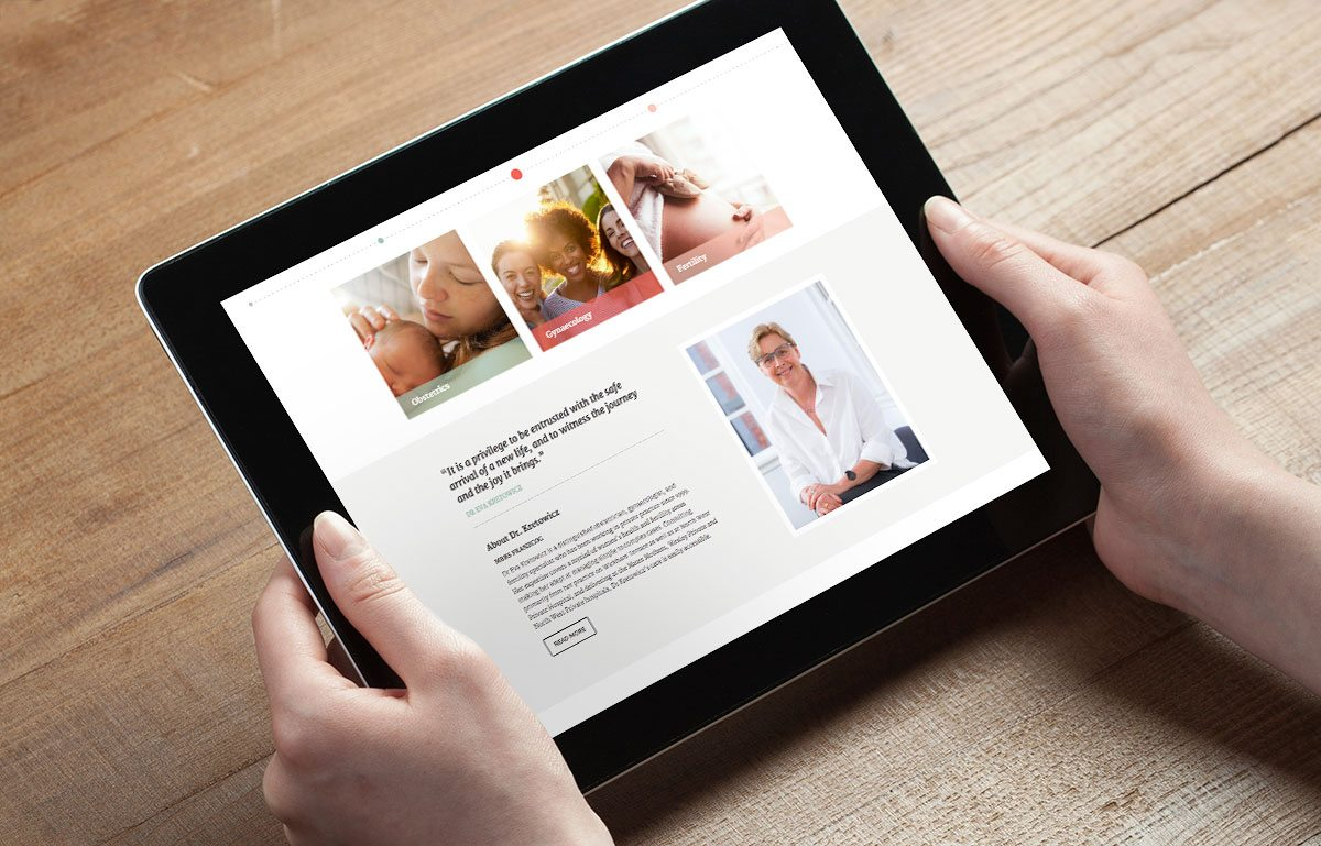 Dr Eva Kretowich website design