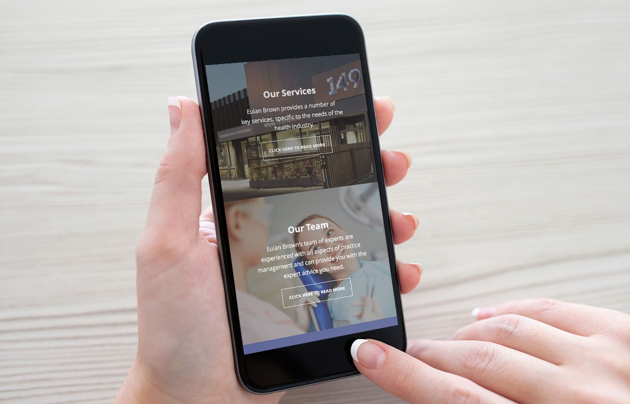 Eulan Brown mobile website