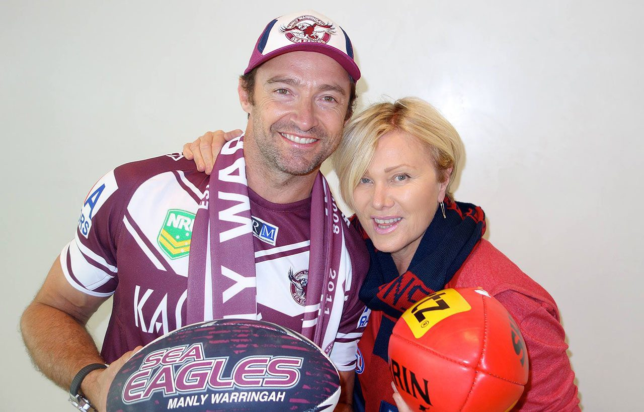 Footy Colours Day Hugh Jackman
