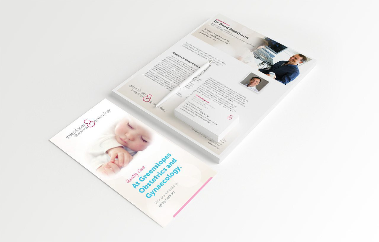 Greenslopes Obstetrics and Gynaecology Stationery