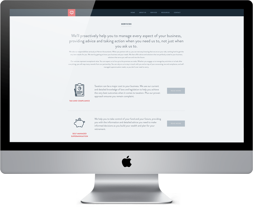 Herron Accountants website design