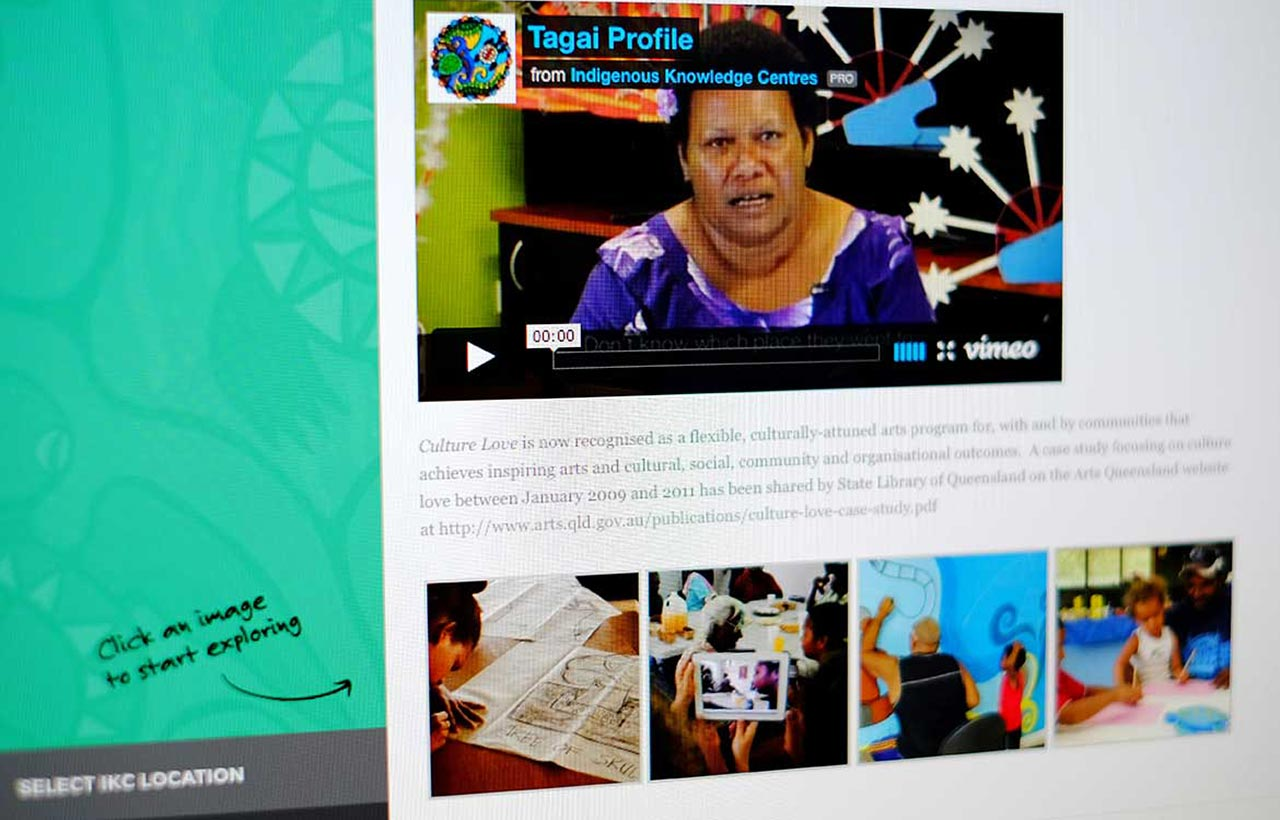 Indigenous Knowledge centre website design