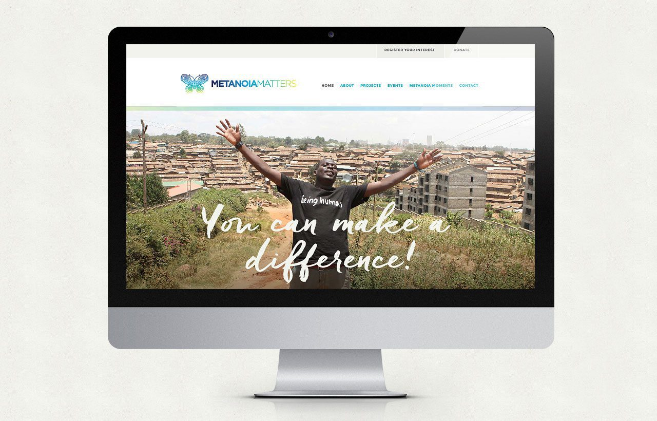 Metanoia Matters website design