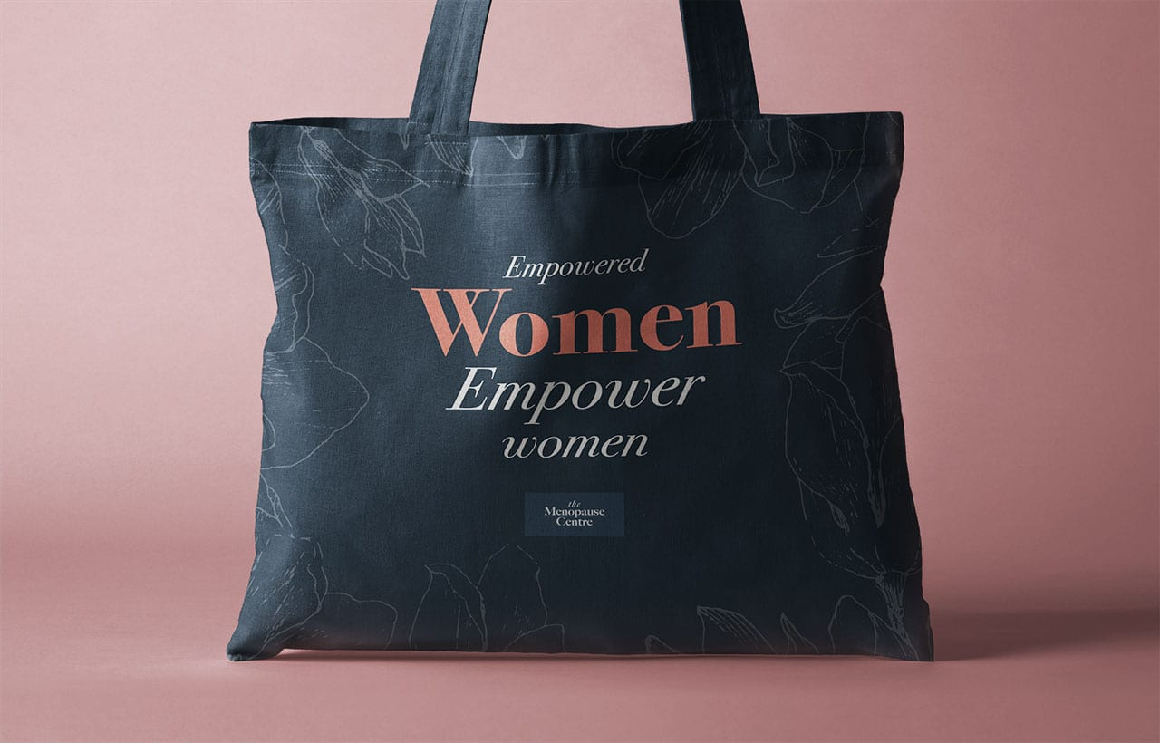 The Menopause Centre Tote Bag Concept