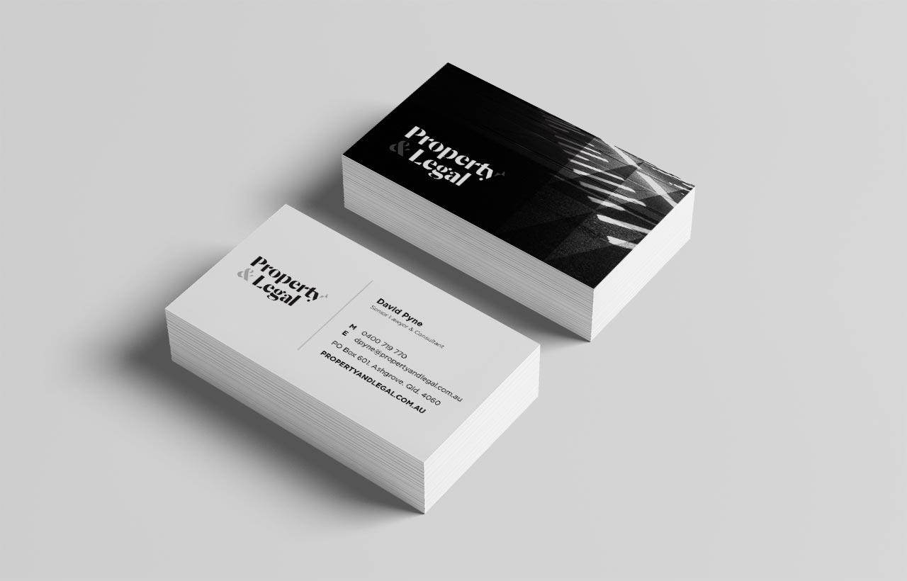 Property & Legal Business Card design