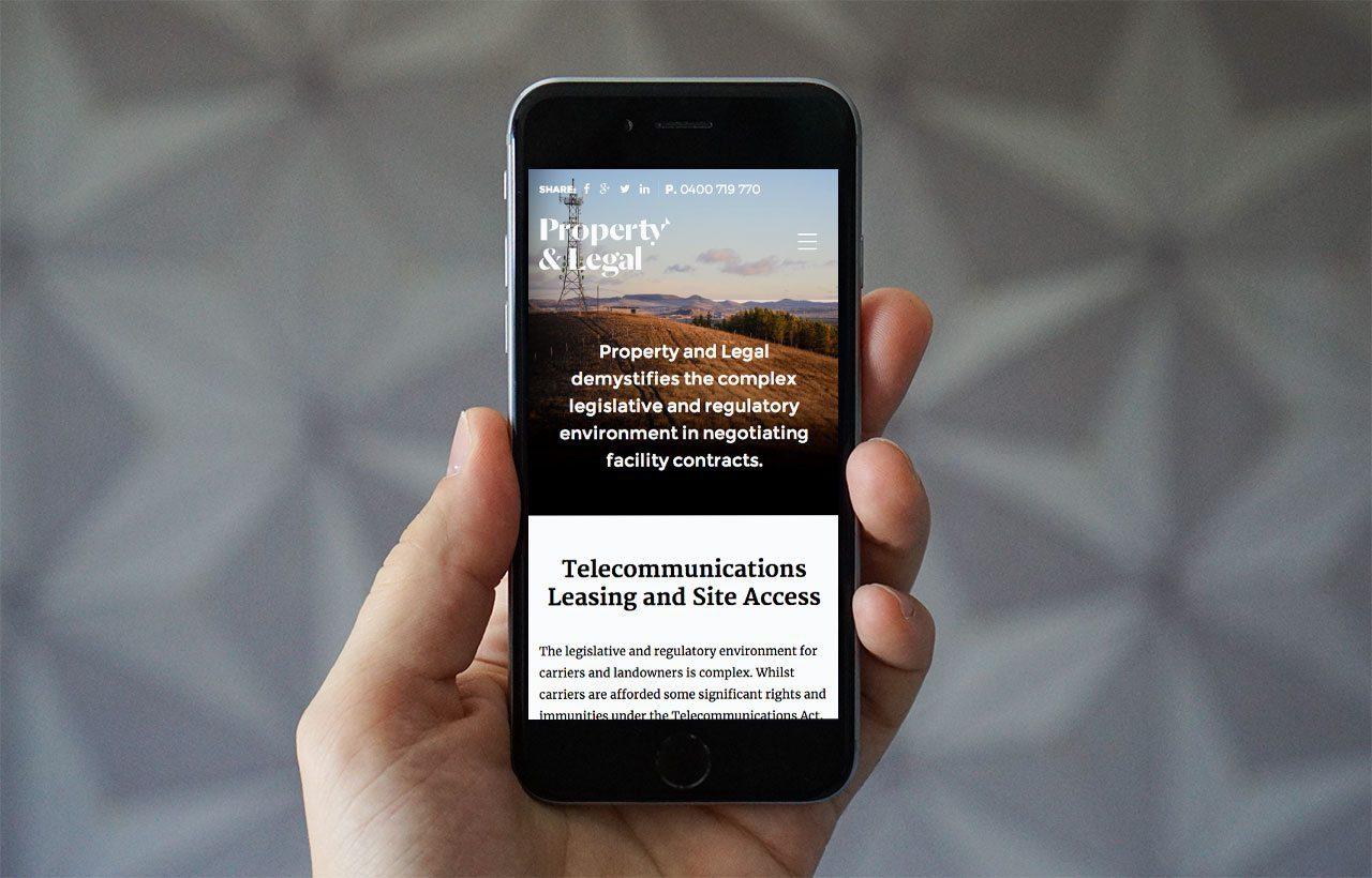 Property & Legal website mobile
