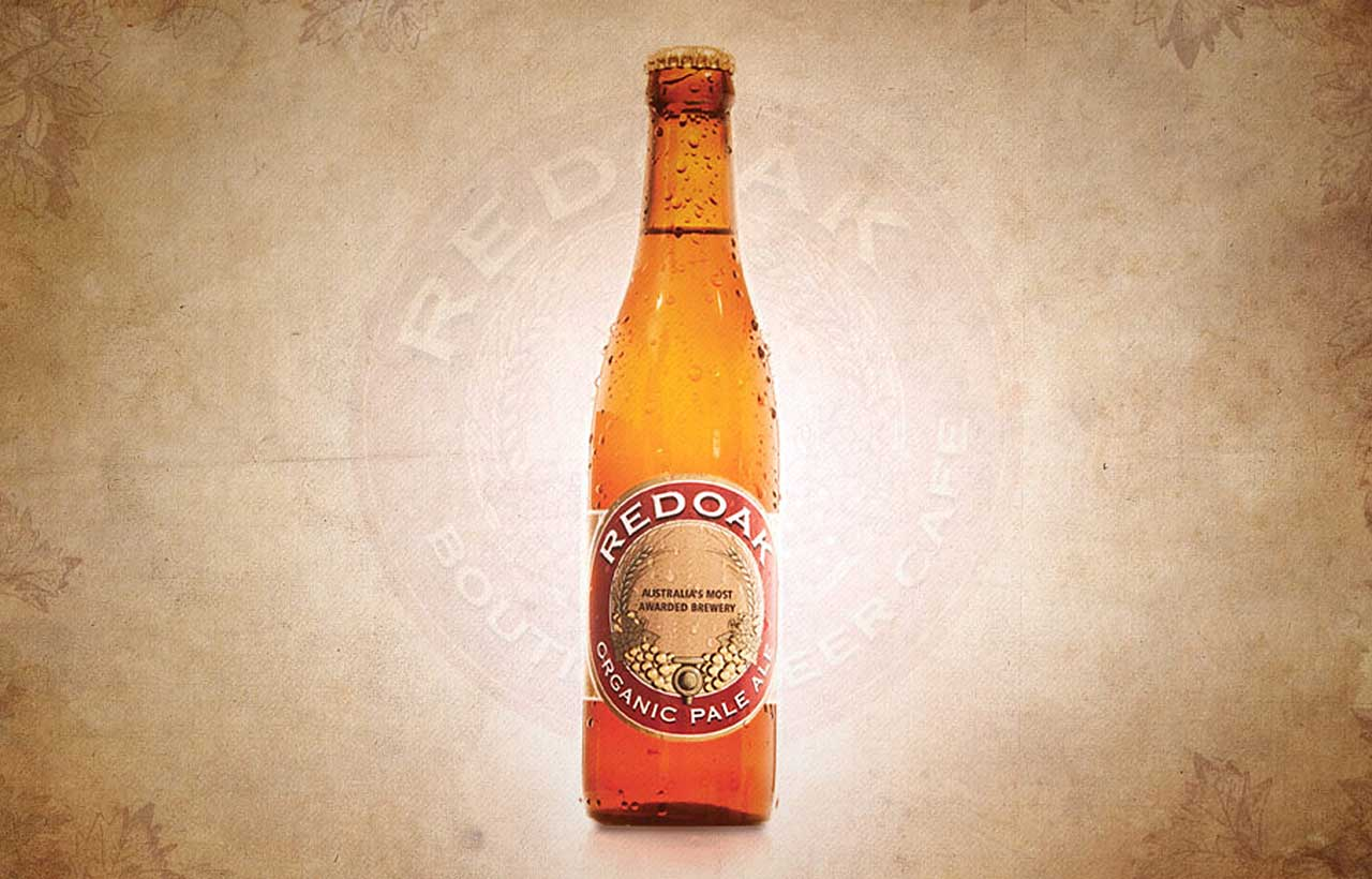 Redoak beer bottle