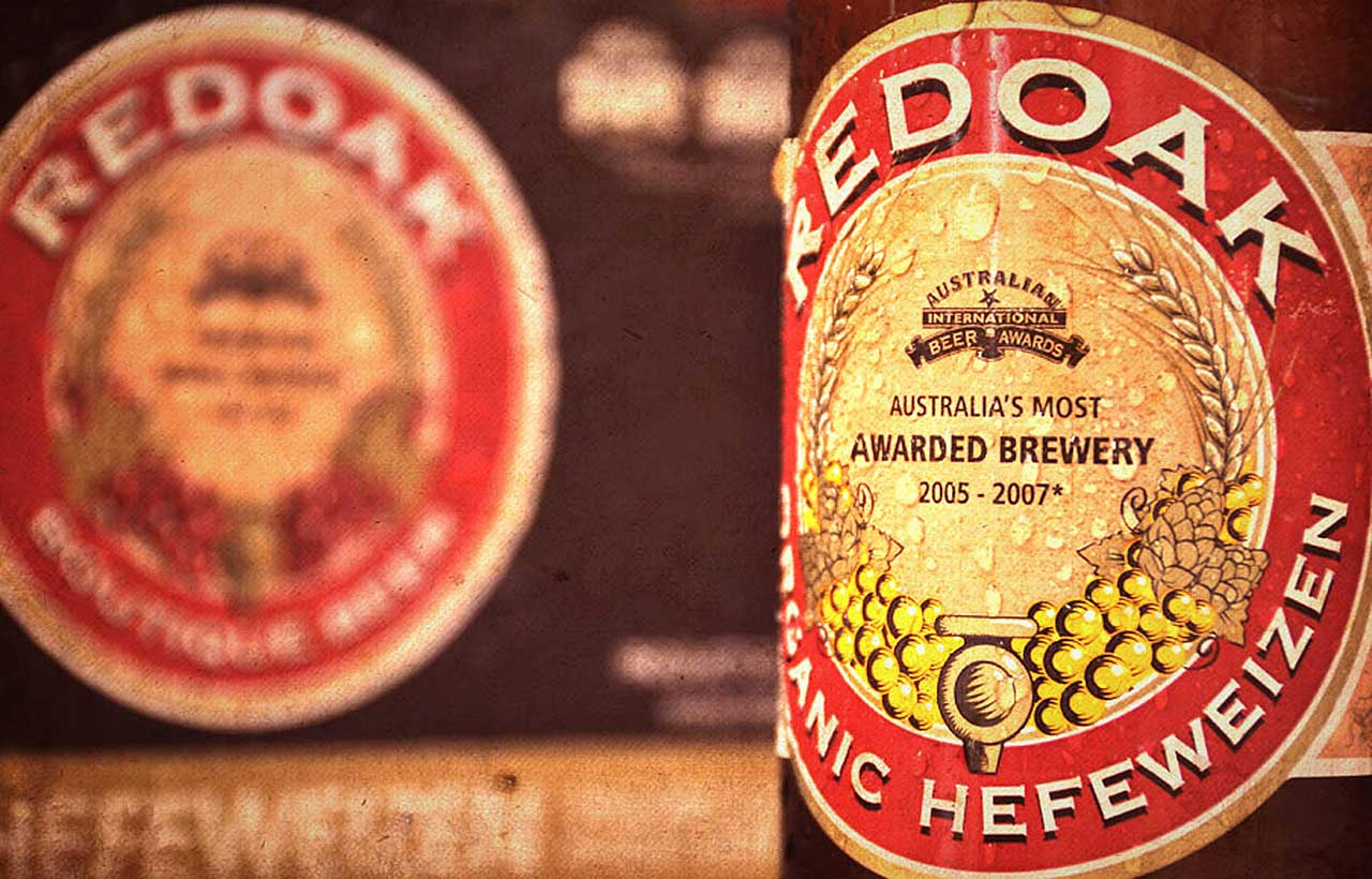 Redoak beer label