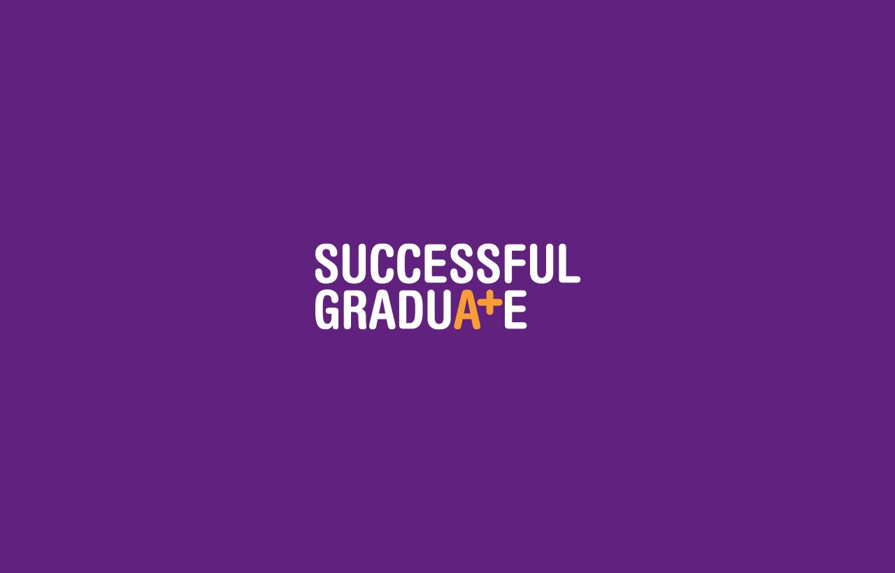 Successful Graduate logo purple