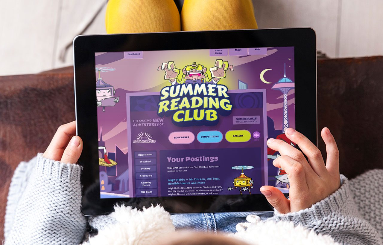 Summer Reading Club 2016 website