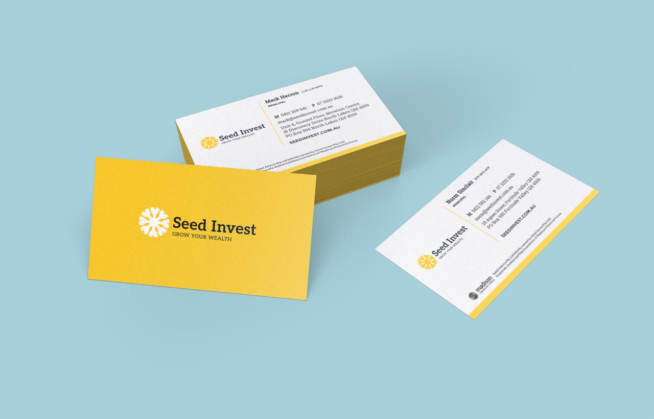 Seed Invest business cards