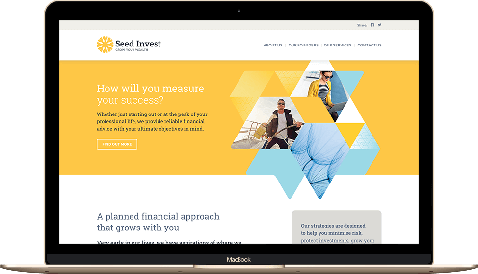Seed Invest website design