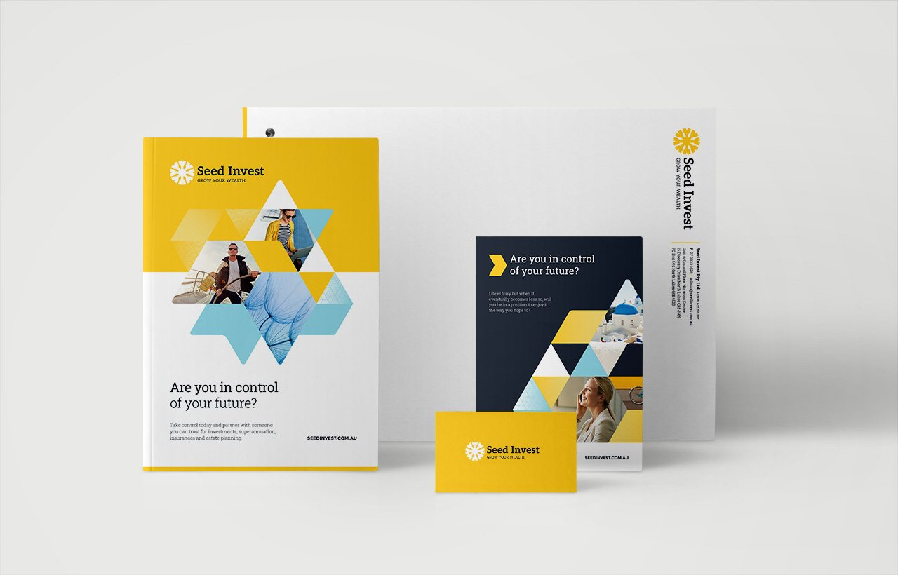 Seed Invest Stationery design