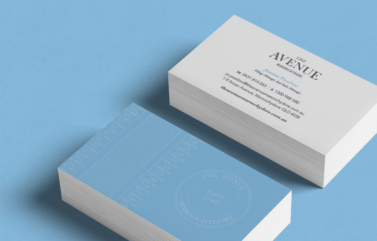 The Avenue Maroochydore Business Cards