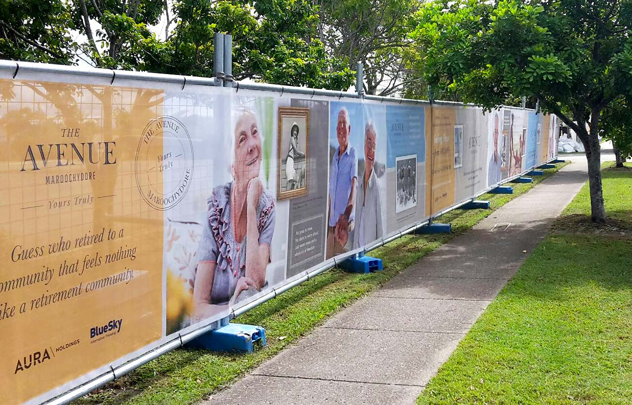 The Avenue Maroochydore fence wrap