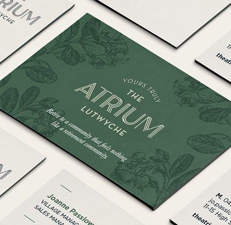 The Atrium Business Cards