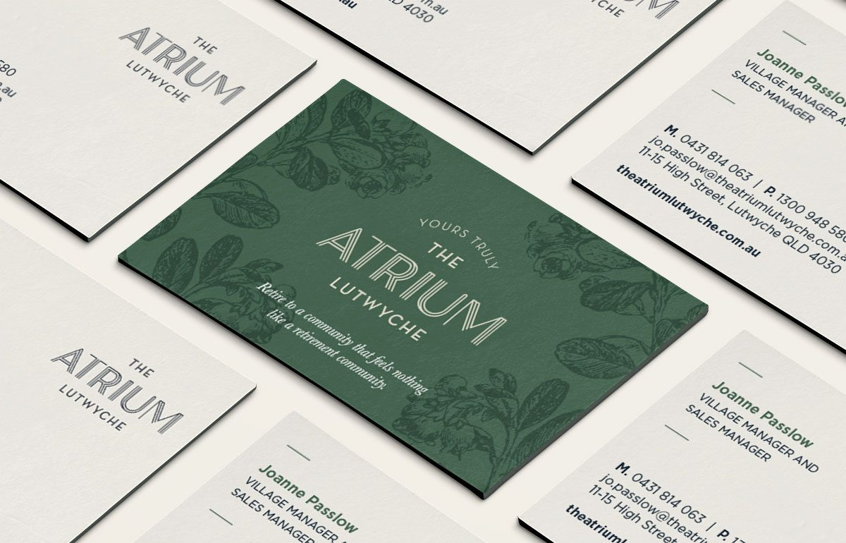 The Atrium Business Cards