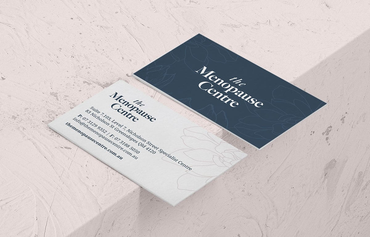The Menopause Centre Business Cards