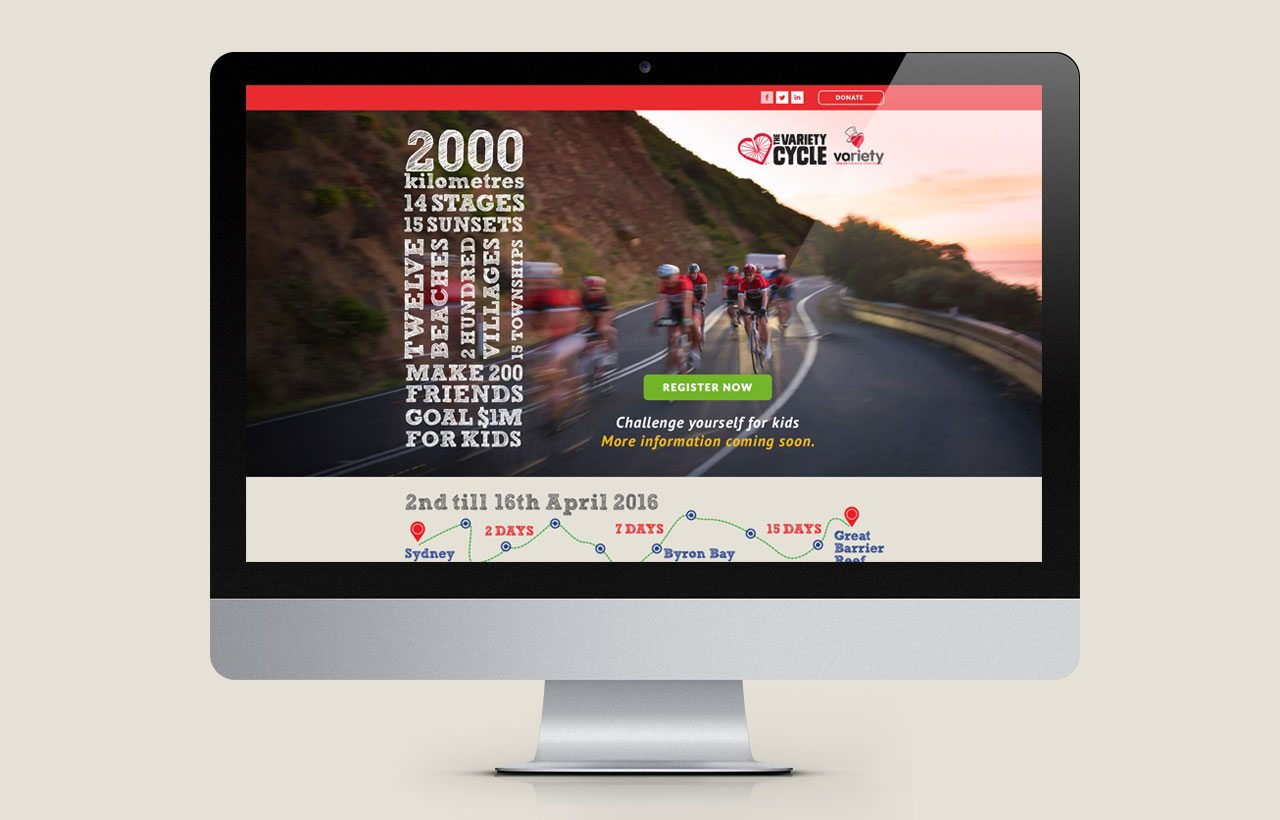 Variety Cycle 2015 website design