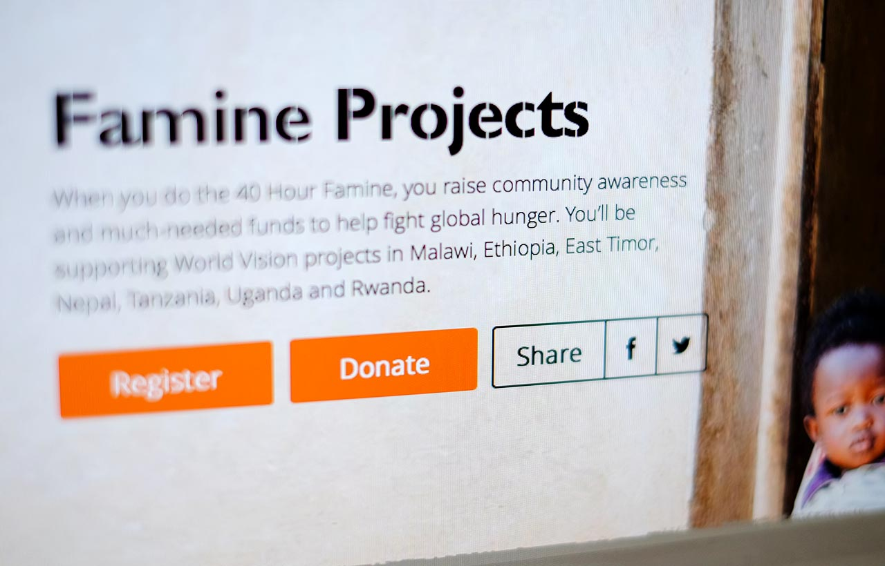 World Vision 40 hour famine 2014 website