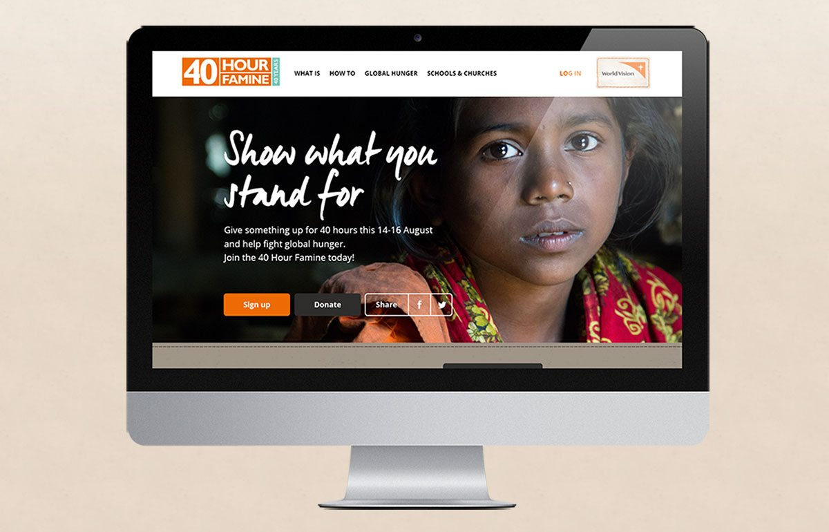 40 Hour famine 2015 website