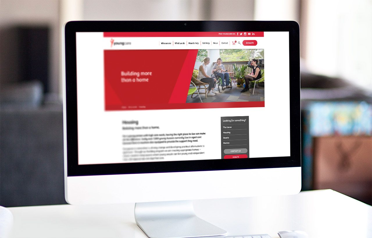 Youngcare website design